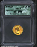 Ancients:Roman, Tiberius, A.D. 14-37. AV aureus minted at Lugdunum (...