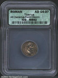 Ancients:Roman, Tiberius, A.D. 14-37. AR denarius minted at Lugdunum (...