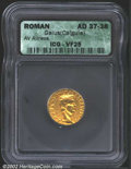 Ancients:Roman, Gaius (Caligula), A.D. 37-41. AV aureus minted at Lugdunum,...