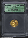 Ancients:Roman, Nero, A.D. 54-68. AV aureus minted c. A.D. 64-65. Laureate ...