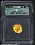Ancients:Roman, Nero, A.D. 54-68. AV aureus minted c. A.D. 66-67. Laureate ...