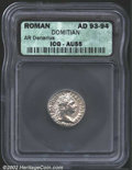 Ancients:Roman, Domitian, A.D. 81-96. AR denarius minted A.D. 93-94. ...