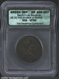 Ancients:Roman, Septimius Severus, A.D. 193-211. AE 30 dated year 208 (A.D....