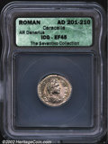 Ancients:Roman, Caracalla, A.D. 198-217. Two silver denarii as Augustus, ...