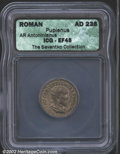 Ancients:Roman, Pupienus, A.D. 238. AR antoninianus. Radiate, cuirassed ...