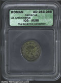 Ancients:Roman, Gallienus, A.D. 253-268. Two AE antoniniani, one minted at ...