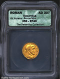 Ancients:Roman, Maxentius, A.D. 306-312. AV aureus minted at Rome, A.D. ...