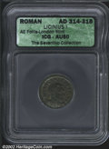 Ancients:Roman, Licinius I, A.D. 308-324. AE follis minted at London, A.D. ...