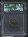 Ancients:Roman, Licinius I, A.D. 308-324. Two AE folles, both minted A.D. ...