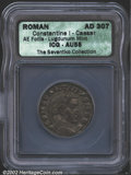 Ancients:Roman, Constantine I, the Great, A.D. 307-337. AE follis minted ...