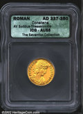 Ancients:Roman, Constans, A.D. 337-350. AV solidus minted at Thessalonica, ...