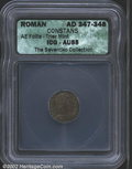 Ancients:Roman, Constans, A.D. 337-350. AE 3/4 minted at Trier, reverse ...