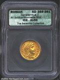 Ancients:Roman, Constantius II, A.D. 337-361. AV solidus minted at ...
