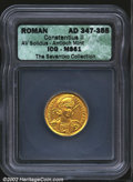Ancients:Roman, Constantius II, A.D. 337-361. AV solidus minted at Antioch,...