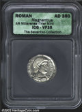 Ancients:Roman, Magnentius, A.D. 350-353. AR light miliarense minted at ...