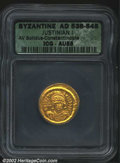 Ancients:Byzantine, Justinian I, A.D. 527-565. AV solidus minted at ...