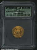 Ancients:Byzantine, Justin II, A.D. 565-578. AV solidus minted at ...