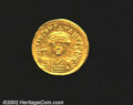 Ancients:Byzantine, Tiberius II, A.D. 578-582. AV light weight solidus of 22 ...