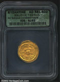 Ancients:Byzantine, Maurice Tiberius, A.D. 582-602. AV solidus minted at ...