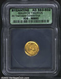 Ancients:Byzantine, Maurice Tiberius, A.D. 582-602. AV tremissis minted at ...