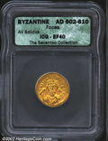 Ancients:Byzantine, Phocas, A.D. 602-610. AV solidus minted at Constantinople, ...