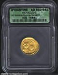 Ancients:Byzantine, Heraclius, A.D. 610-641. AV solidus attributed to Cyprus ...