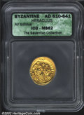 Ancients:Byzantine, Heraclius, A.D. 610-641. AV solidus minted most probably ...