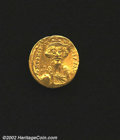 Ancients:Byzantine, Constans II, A.D. 641-668. AV light weight solidus of 23 ...