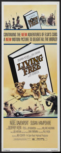 "Movie Posters:Adventure, Living Free (Columbia, 1972). Insert (14"" X 36""). Adventure.Starring Nigel Davenport, Susan Hampshire and Geoffrey Keen. Di..."