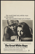 "Movie Posters:Drama, The Great White Hope (20th Century Fox, 1970). Window Card (14"" X22""). Sports Drama. Starring James Earl Jones, Jane Alexan..."