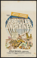 """Movie Posters:Adventure, Hercules Unchained (Warner Brothers, 1959). Window Card (14"""" X22""""). Sword and Sandal Fantasy. Directed by Pietro Francisci...."""