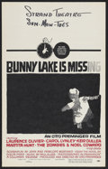 "Movie Posters:Mystery, Bunny Lake is Missing (Columbia, 1965). Window Card (14"" X 22"").Mystery. Starring Carol Lynley, Keir Dullea, Laurence Olivi..."