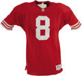 Football Collectibles:Uniforms, Early 1990's Steve Young Game Worn Jersey. Filling the shoes of a legend is never an easy task, but the great-great-great-g...