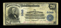 National Bank Notes:North Carolina, Goldsboro, NC - $20 1902 Plain Back Fr. 658 The NB of Goldsboro Ch. # 5048. An evenly circulated large example from the ...