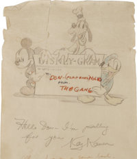 Walt Disney Studio Autographed Scroll (1942)