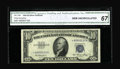 Small Size:Silver Certificates, Fr. 1706* $10 1953 Silver Certificate. CGA Gem Uncirculated 67.. A well centered example of this in demand star which has be...