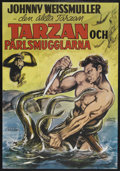 "Movie Posters:Adventure, Tarzan and the Mermaids (RKO, R-1960's). Swedish One Sheet (27.5"" X39.5""). Adventure. Starring Johnny Weissmuller, Brenda J..."