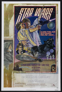 "Star Wars (20th Century Fox, 1977). One Sheet (27"" X 41"") Style D. Science Fiction Adventure. Starring Mark Ha..."