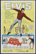 "Movie Posters:Elvis Presley, Girl Happy (MGM, 1965). One Sheet (27"" X 41""). Rock Musical.Starring Elvis Presley, Shelley Fabares, Harold J. Stone and Ga..."
