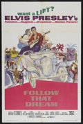 """Movie Posters:Elvis Presley, Follow That Dream (United Artists, 1962). One Sheet (27"""" X 41"""").Rock Musical. Starring Elvis Presley, Arthur O'Connell, Ann..."""