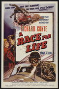 """Movie Posters:Sports, A Race for Life (Lippert, 1954). One Sheet (27"""" X 41""""). Sports Drama. Starring Richard Conte, Mari Aldon, George Coulouris a..."""