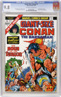 Bronze Age (1970-1979):Superhero, Giant-Size Conan #1 (Marvel, 1974) CGC NM/MT 9.8 Off-white to white pages. First comic book appearance of Belit. First part ...