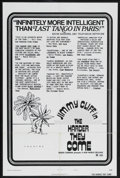 """Movie Posters:Blaxploitation, The Harder They Come (New World Pictures, 1973). One Sheet (27"""" X 41"""") Style B. Crime. Starring Jimmy Cliff, Basil Keane, Wi..."""