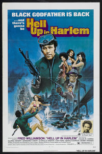 "Hell Up in Harlem (American International, 1973). One Sheet (27"" X 41""). Blaxploitation. Starring Fred William..."