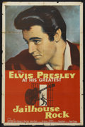 "Movie Posters:Elvis Presley, Jailhouse Rock (MGM, 1957). One Sheet (27"" X 41""). Rock and RollMusical. Starring Elvis Presley, Judy Tyler, Mickey Shaughn..."
