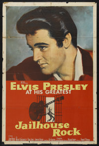 "Jailhouse Rock (MGM, 1957). One Sheet (27"" X 41""). Rock and Roll Musical. Starring Elvis Presley, Judy Tyler..."