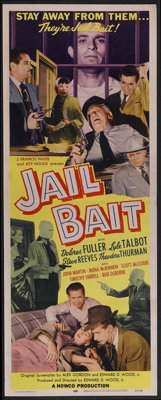 "Jail Bait (Howco, 1954). Insert (14"" X 36""). Crime. Directed by Edward D. Wood, Jr. Starring Dolores Fuller, L..."