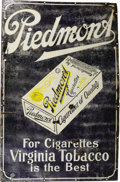 Baseball Collectibles:Others, Circa 1910 Piedmont Tobacco Large Porcelain Advertising Sign. Theperfect complement to your tobacco card collection. This...
