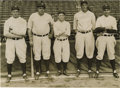 Baseball Collectibles:Photos, 1927 Babe Ruth & Miller Huggins Underwood & UnderwoodPhotograph. Magnificent Murderers Row image is the work of thefamed ...