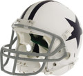 Football Collectibles:Helmets, 2006 Tony Romo Game Worn Throwback Helmet. A healthy scrape on the right side of this beautiful retro helmet was suffered i...